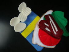 Felt food BLT sandwich and potato chip set NEW