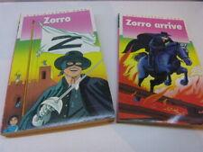 2 livres bibliothèque rose ,zorro et  zorro arrive,  bibliothèque rose  (cboi09)