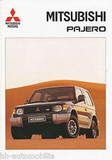 Mitsubishi Pajero Prospekt 9/92 brochure 1992 Auto PKWs Japan Asien Autoprospekt