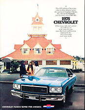 1975 Chevrolet Impala Caprice Classic Bel Air 20-page Car Sales Brochure Catalog