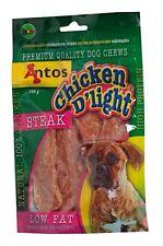 Antos Chicken D'light STEAK~ 2 x 100g packs of Delicious Treats
