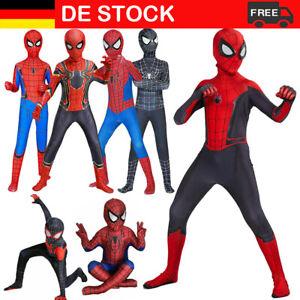 Karneval Spiderman Kostüm Kinder Cosplay Avengers Anzug Marvel Outfit Overall DE