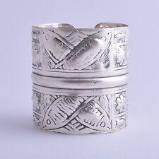 Vintage berber Bedouin ethnic tribal Egypt Egyptian silver bracelet Cuff