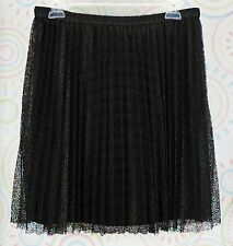New Elle Women Flare Skirt Size M Medium Elastic Waistband Black NWOT