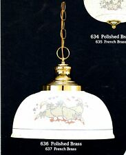 COUNTRY 1-Light WHITE Duck Design PENDANT Ceiling FIXTURE NEW $269 MSRP Item 636