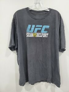 VTG UFC 126 Anderson Spider Silva vs Vitor Belfort Event T Shirt Mens L Jones