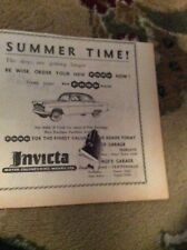 C1a ephemera 1958 advert ford invicta works margate empire garage