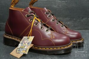 Dr Martens Church Archive Collection Oxblood Red Smooth Leather Boots Mens 7