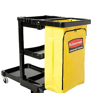 Rubbermaid Commercial Cleaning Cart Yellow Vinyl Replacement Bag 24 Gallon