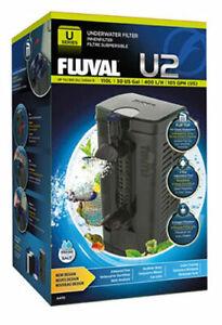 FLUVAL NEW U2 INTERNAL FILTER SUBMERSIBLE ADJUSTABLE AQUARIUM FISH TANK
