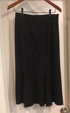 Long Black Skirtology Brand Women's Size 8 Flared Modesty Skirt With Side Zipper