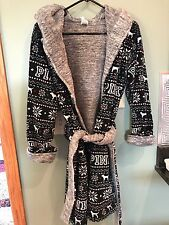 VICTORIA'S SECRET PINK Soft Reversible Robe XSmall / Small New With Tags