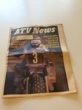 Rare July 1983 ATV News Newspaper Magazine Three Wheeler Team Honda Memorabilia