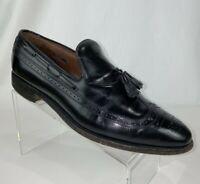 Allen Edmonds Berwick Mens 10.5 D Black Slip On Tassel Wing Tip Dress Shoes