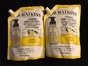 JR WATKINS Lemon Foaming Hand Soap Refill 28oz each BRAND 2 BAGS FREE SHIPPING