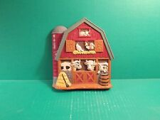 Home Interior Accent Wall Plaque Barn With Cows, Chickens And Pig