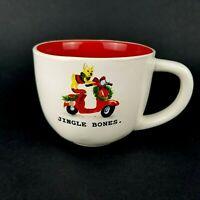 Rae Dunn JINGLE BONES Christmas Dog Scooter Coffee Mug Hot Chocolate Tea