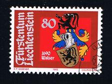 LIECHTENSTEIN 1 FRANCOBOLLO STEMI CHRISTOPHE WALSER 1982 usato (BLI39)