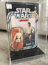 Vintage Star Wars 12 Back Luke Skywalker Unpunched Carded MOC Kenner Original