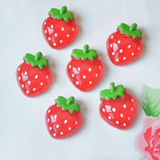 12pcs Lovely Red Resin Strawberry Flatback Scrapbooking For DIY Phone Craft Pro.