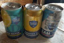 Lot - 3 Samuel Adams 12 oz. Beer Can Bottom Opened Sam '76 Summer Porch Rocker