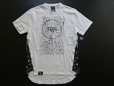 Switch Mens Size XL Long Back Black & White Speckeld YING Graphic T Shirt New