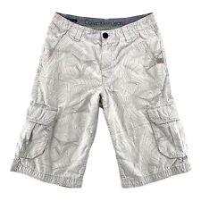 Calvin Klein Jeans Cargo Shorts Gray Design Cotton Boys Junior Size 16 Pre Owned