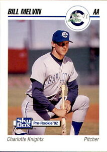 1992 Charlotte Knights SkyBox #162 Bill Melvin Raleigh North Carolina NC Card