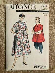 Advance 7716 | Bust 34 | Smock or Duster | Vintage 1950s Sewing Pattern
