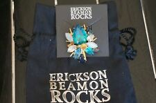 Blondie Crystl Cluster Brooch Pin Gorgeous New Wpouch Erickson Beamon Rocks Blue