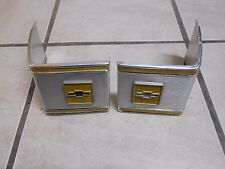 73-83 Chevy Truck Pickup Cab Corner Trim Pieces Moldings Emblems Yellow Belt oem