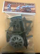 2003 BARZSO PLAYSET FRENCH 32 PDR CANNON,4 CREW.RARE BLUE CARRIAGE.MIP