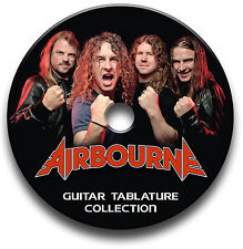 AIRBOURNE ROCK GUITAR TAB TABLATURE SONG BOOK SOFTWARE CD