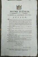 1810 BANDO NAPOLEONICO SU TASSE SULLA CASA A FELTRE, BELLUNO E NEL CADORE