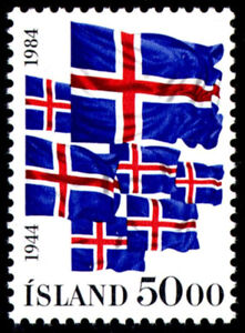 Iceland 1984 Flags, 40th Anniversary of Republic UNM / MNH-