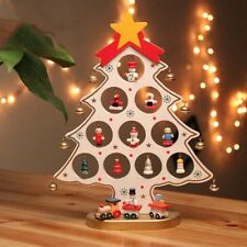 Wooden Christmas Ornaments Festival Party Xmas Tree DIY Table Desk Decor White