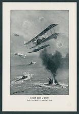 Kaiserliche Marine Albatros Seeflieger Pilot Angriff gegen U-Boote Nordsee 1916
