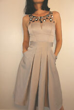 Acetate Round Neck Regular Size Dresses Midi