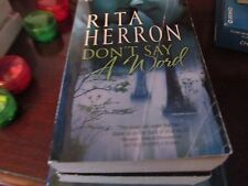 Don't Say A Word by Rita Herron