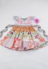 Matilda Jane Platinum Glamping tiered wrap style chest Dress size 4 EUC No. 2/12