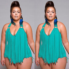 US Women's One-piece Halter Monokini Swimsuit Swimwear Push Up Bikini PLUS SIZE
