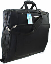 Suit Garment Carrier Wardrobe Travel Luggage Bag with Shoulder Strap Black