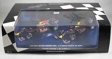 RED BULL RB5 #14Webber #15 Vettel CHINESE GP 2009 1-2 signed SET MINICHAMPS 1:43