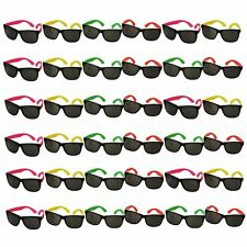36 pk Neon Sunglasses Bulk Lot Party Favors 80s Style Retro Eyewear Accessories