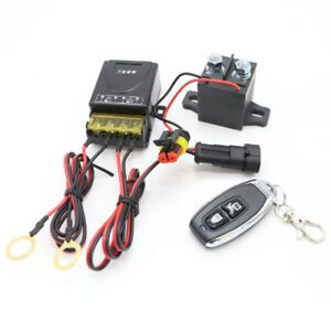 Remote Car Battery Isolator Switch Positive Negative Disconnect Power Cut On/Off