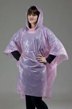 PONCHO Adult Pink Waterproof Festival Events (Box of 100) 75010242