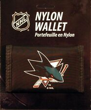 San Jose Sharks NHL Licensed Nylon Trifold Wallet New FREE US SHIPPING