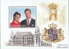 Luxembourg block18 mint never hinged mnh 2000 throne