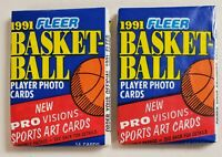 1991-92 Fleer Basketball Lot of 2 (Two) New Sealed Packs Jordan
