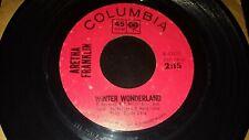 ARETHA FRANKLIN Winter Wonderland / The Christmas Song 1964 45 Columbia 4-43177